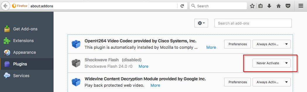 Disable Firefox Flash - How to Stop Malvertisement