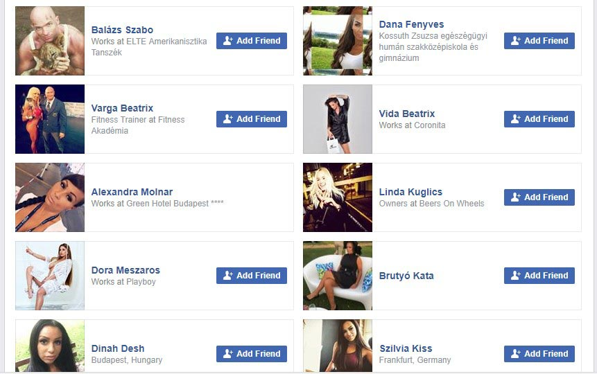 Check the Friend List - Spot Fake Facebook Account