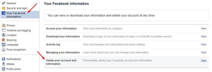 Delete Facebook 2