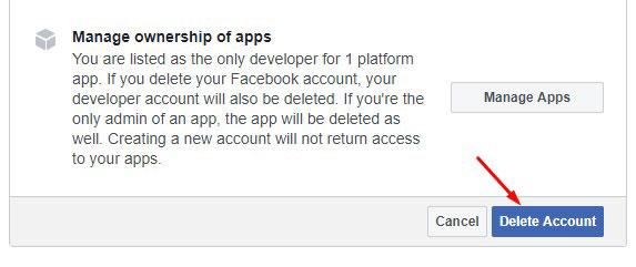 Delete Facebook 3