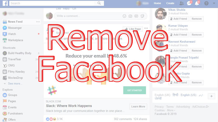 How to Remove Facebook from Life