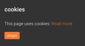 Cookies Notifications in Chrome