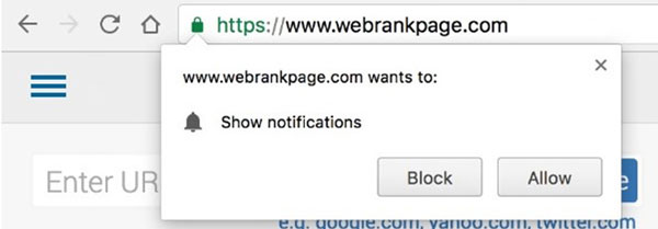 Notification Request in Chrome