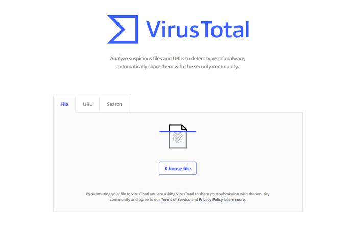 virustotal website