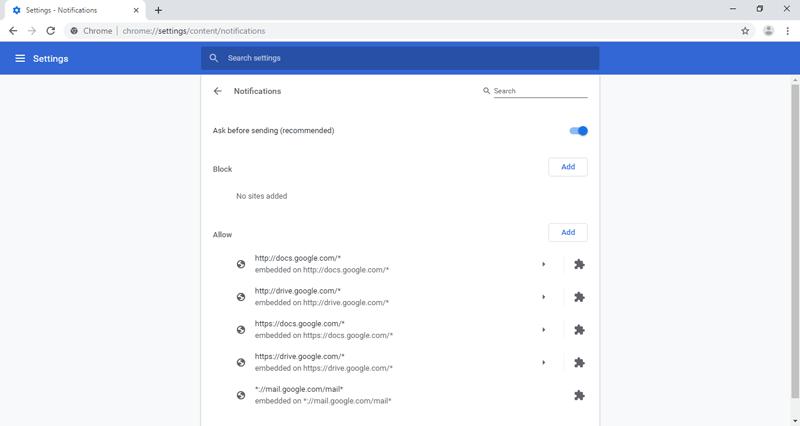 Stop Chrome Web Notifications