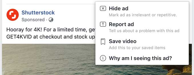 Newsfeed Ad options