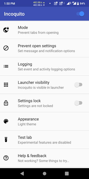 Incoquito App to Disable Incognito in Android