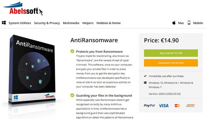 Abelsoft AntiRansomware