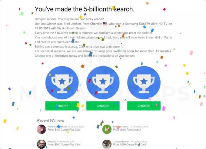 5th Billion Search Scam by Google