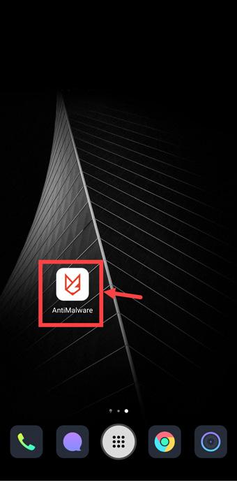 Tap on Malwarefox app icon