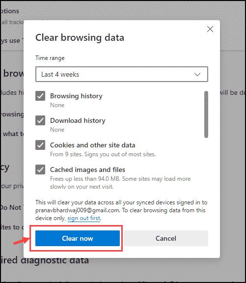 clear edge data